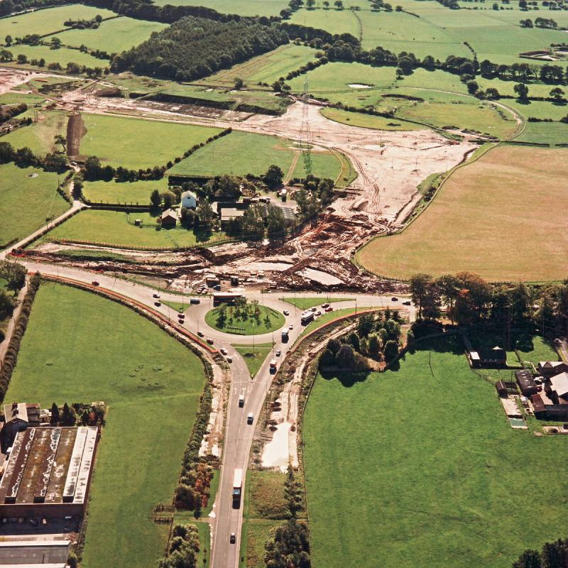 Bamber Bridge roundabout, view south