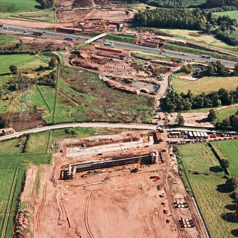 A49 underbridge, view east